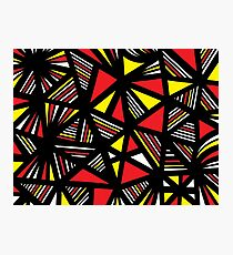 Baccouche Abstract Expression Yellow Red Black Photographic Print