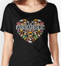 I'm A Farmaholic Funny Farmer's Family T-Shirt Women's Relaxed Fit T-Shirt
