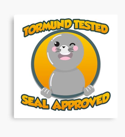 Seal of Approval Canvas Print