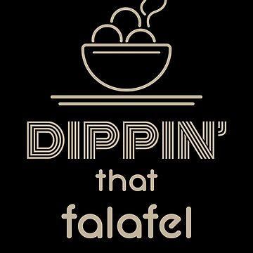 Dippin That Falafel - Awesome Vegan Foodie Gifts by RaveRebel