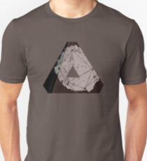 Abstract Geometry: Metallic City (Brown/Gold) T-Shirt