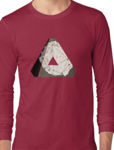 Abstract Geometry: Embers (Brown/Gold) Long Sleeve T-Shirt
