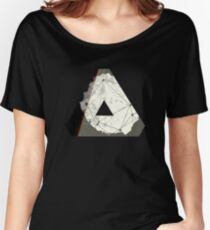 Abstract Geometry: Embers (Brown/Gold) Women's Relaxed Fit T-Shirt