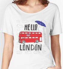 Hello London Women's Relaxed Fit T-Shirt