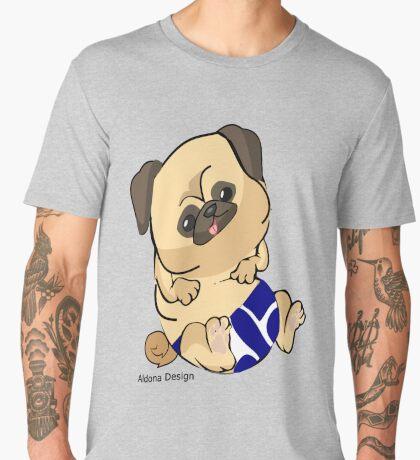 Pug in blue Men's Premium T-Shirt