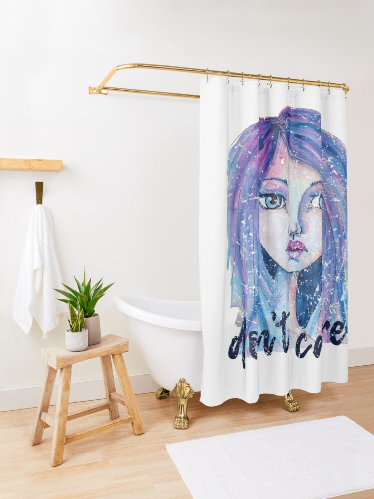 Alternate view of Don't Care Shower Curtain