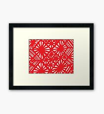 Falconio Abstract Expression Red White Framed Print