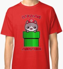 Cat Cute Funny Mario Kawaii Classic T-Shirt