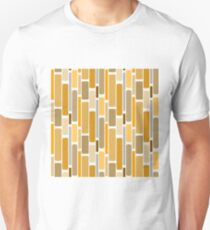 Retro modern yellow orange abstract pattern T-Shirt