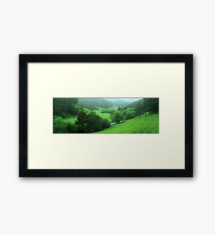 The perfect valley  Framed Print