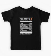 Fox Facts Funny Fox Quotes T-Shirt Kids Tee
