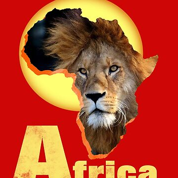 Animal Safari Wild Life African Lion  by Artification