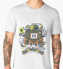 Vintage Game Console Cartoon Character Men's Premium T-Shirt