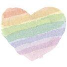 Watercolour Rainbow Heart Pride by onceuponatimes