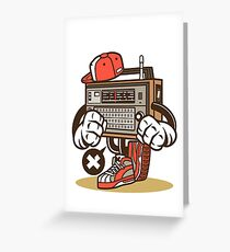 Vintage Radio Cartoon Character Greeting Card