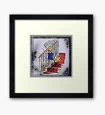 Christopher Robin & Pooh Bear Framed Print