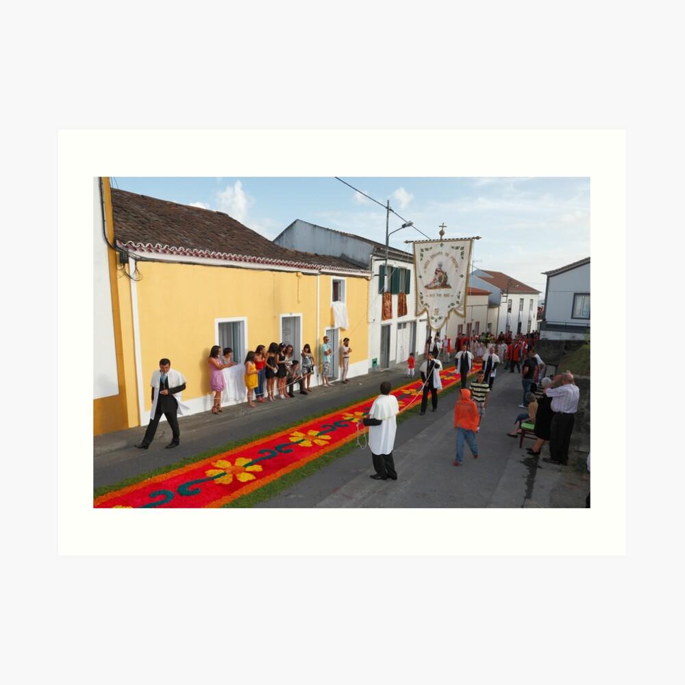 Catholic procession Art Print