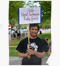 Help Nepal relief efforts Poster