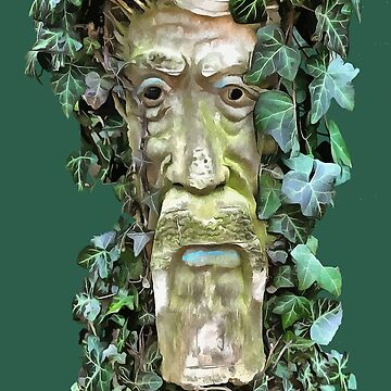 The Pagan Celtic GreenMan With Ivy Leaves by taiche