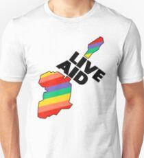 Live Aid Pflaster Hilfe Symbol Slim Fit T-Shirt