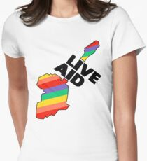 Live Aid Band Aid 1985 Symbol Women's Fitted T-Shirt