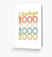 vintage retro since 2000 birthday gift Greeting Card