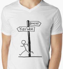 Funny Signpost Themed Key West Design Men's V-Neck T-Shirt