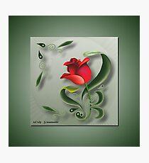 D1G1TAL-M00DZ ~ FOLKART ~ Red Tulip by tasmanianartist Photographic Print