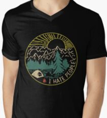 I hate people camping hiking Men's V-Neck T-Shirt