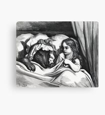 Little Red Riding Hood And The Big Bad Wolf. Canvas Print