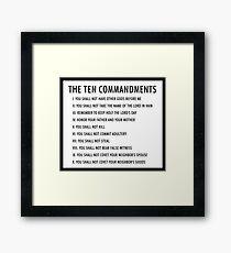 the ten commandments Framed Print