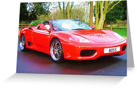 ferrari 360 spider rosso red with boss numberplate by 8oss