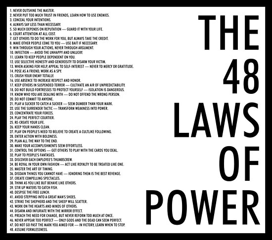 48 laws of love