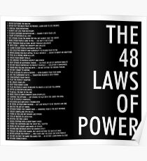 the 48 laws of power black poster Poster