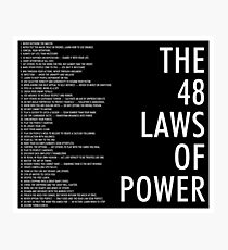 die 48 Gesetze des Machtschwarzen Plakats Fotodruck