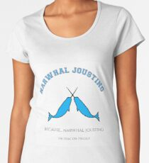 Narwhal Jousting Women's Premium T-Shirt