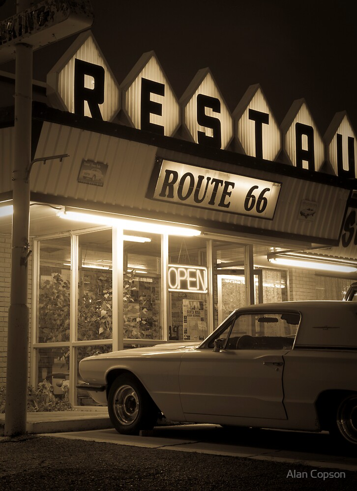 USA. New Mexico. Route 66. Santa Rosa. The Route 66 Restaurant. by Alan Copson