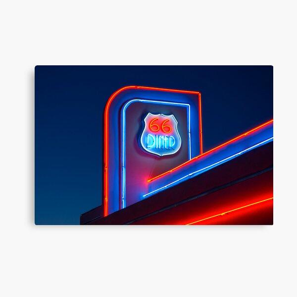 USA. New Mexico. Albuquerque. Route 66 Diner. Canvas Print