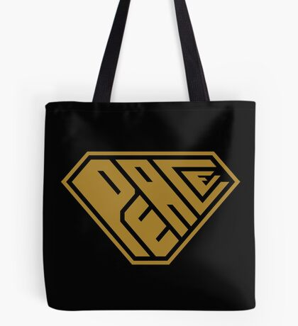 Peace SuperEmpowered (Gold) Tote Bag