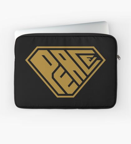 Peace SuperEmpowered (Gold) Laptop Sleeve