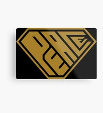 Peace SuperEmpowered (Gold) Metal Print