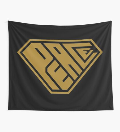 Peace SuperEmpowered (Gold) Wall Tapestry