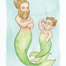 MerMay 2018: May 29th - Daddy Merman by dreampigment