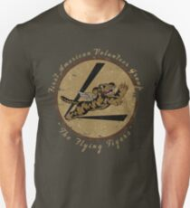 "Flying Tigers Squadron WWII ""Leather Patch"" Design Unisex T-Shirt"