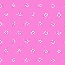 WHITE SQUARES ON PINK by fotografixgal