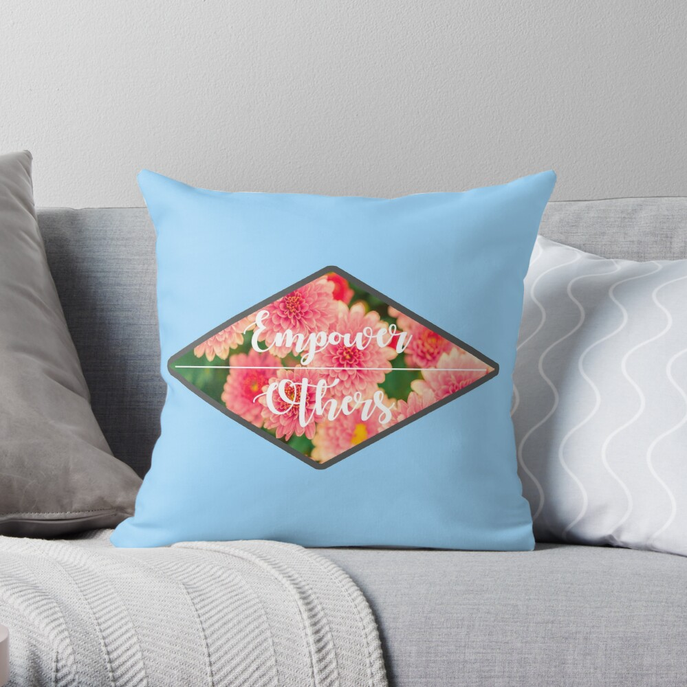 Empower Others Throw Pillow