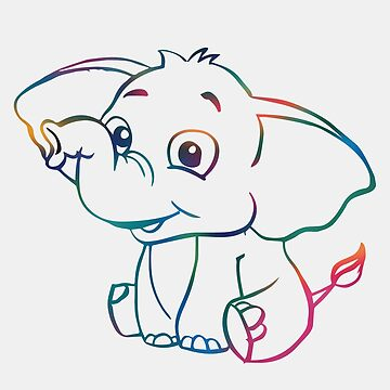 Happy Baby Elephant by -monkey-