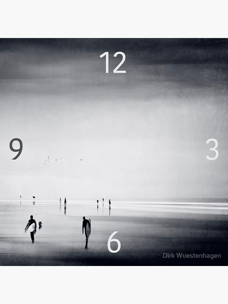 Strangers on a Beach - Abstract seascape by DyrkWyst