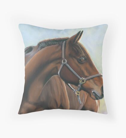 abandoned horse Throw Pillow