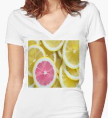 When Life Gives You Lemons  Women's Fitted V-Neck T-Shirt